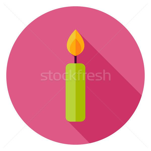 Candle Circle Icon Stock photo © Anna_leni