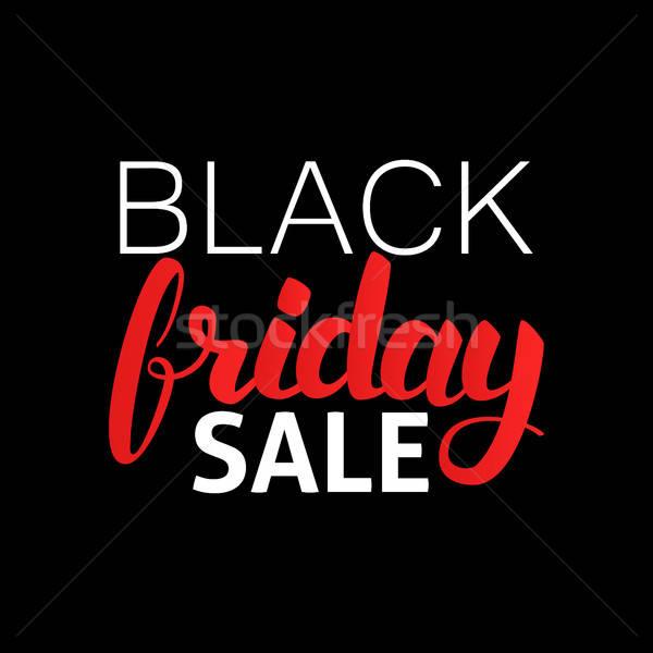 Black Friday Sale Lettering Stock photo © Anna_leni