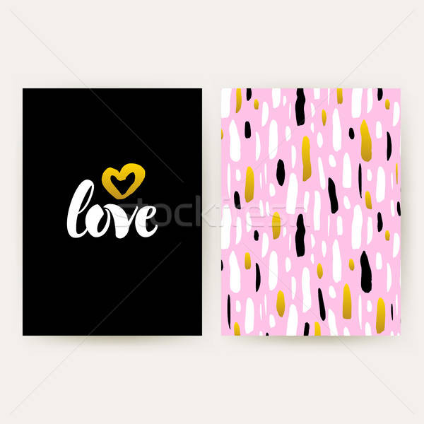 Love 80s Funky Style Posters Stock photo © Anna_leni
