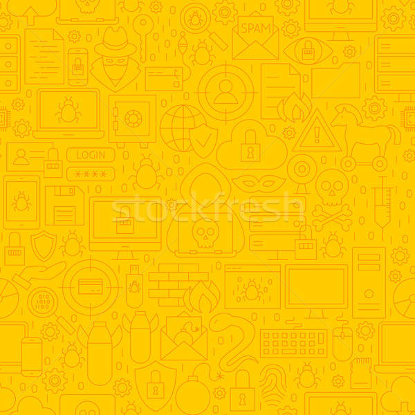 Cyber Security Yellow Line Pattern Stock photo © Anna_leni