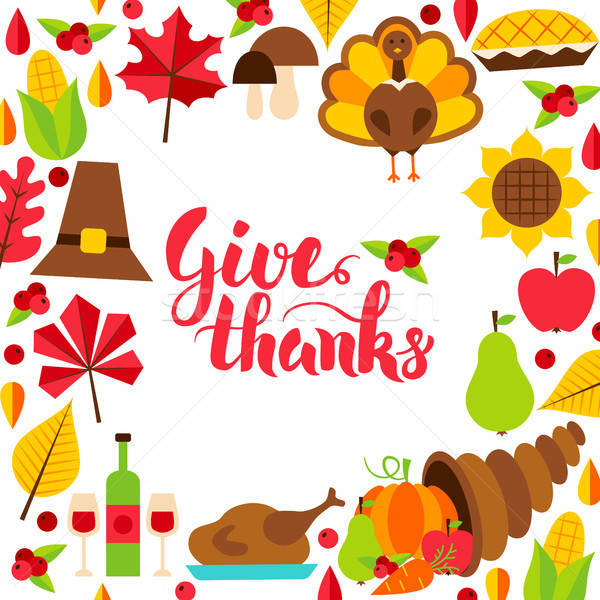 Give Thanks Concept with Lettering Stock photo © Anna_leni