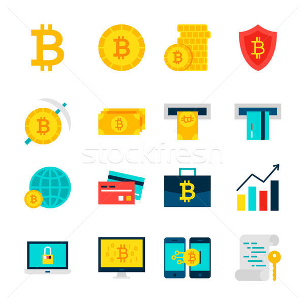 Bitcoin Currency Objects Stock photo © Anna_leni