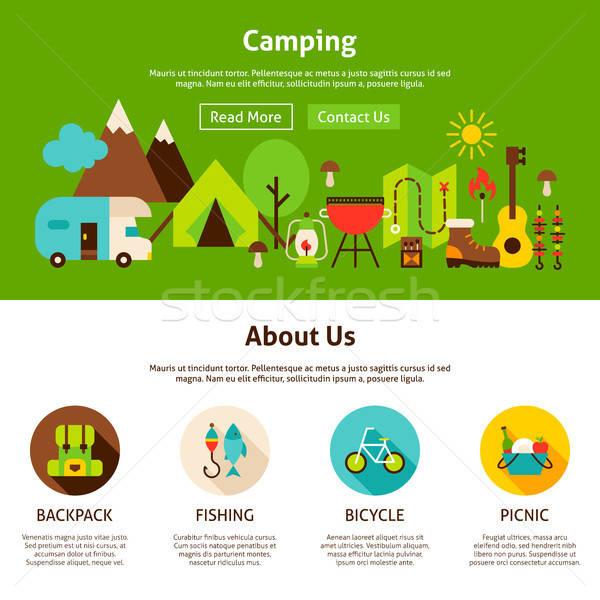 Camping Web Design Stock photo © Anna_leni