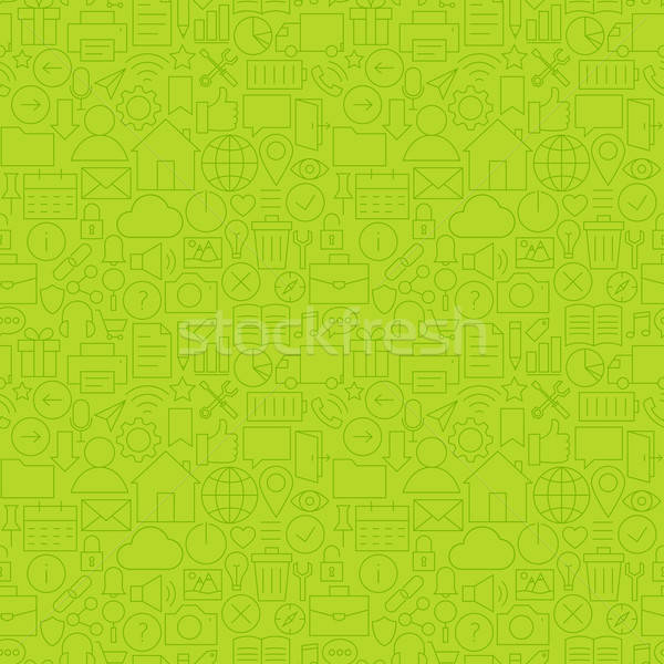 Stock photo: Line Website Mobile User Interface Seamless Green Pattern
