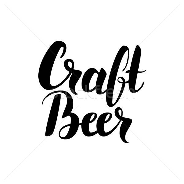 Craft Beer Handwritten Card Stock photo © Anna_leni