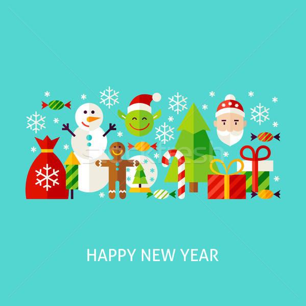 Happy New Year Greeting Concept Stock photo © Anna_leni