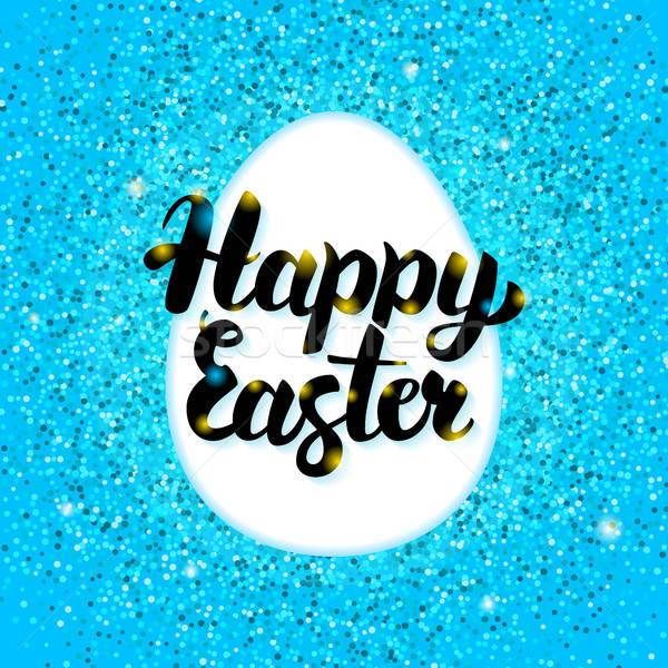 Happy Easter Blue Greeting Stock photo © Anna_leni