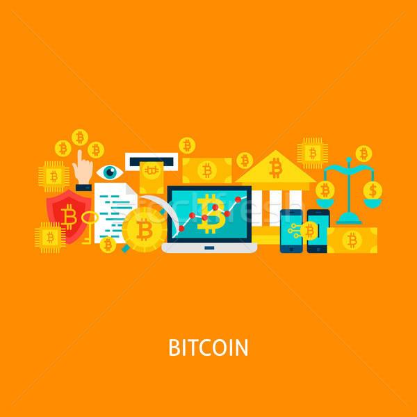 Bitcoin Vector Concept Stock photo © Anna_leni