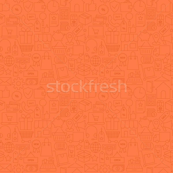 Thin Shop Store Commerce Finance Line Seamless Red Pattern Stock photo © Anna_leni