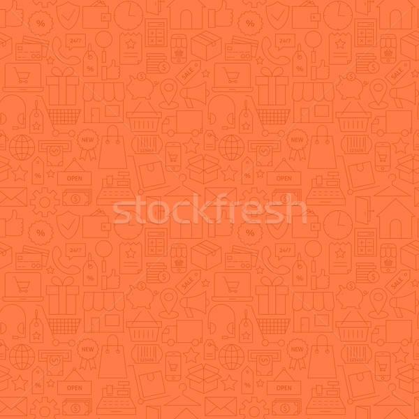 Stockfoto: Dun · winkel · store · commerce · financieren · lijn