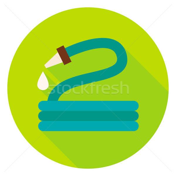 Garden Watering Hose Circle Icon Stock photo © Anna_leni