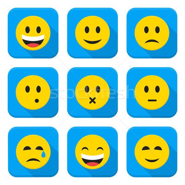 Foto stock: Amarelo · emoticon · faces · aplicativo · estilo