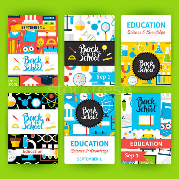 Back to School Label Greeting Set Stock photo © Anna_leni
