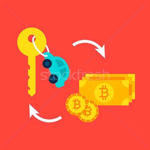 Coche bitcoin financieros acuerdo negocios Internet Foto stock © Anna_leni