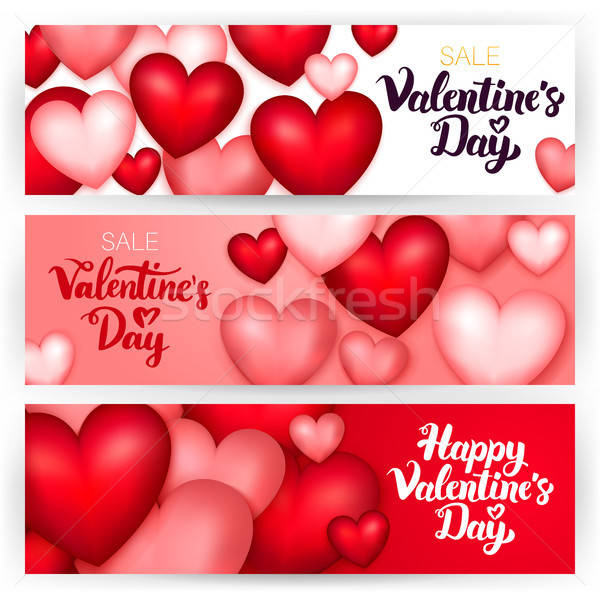 Happy Valentine Day Banners Stock photo © Anna_leni