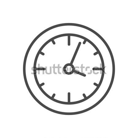 Relógio linha ícone teia símbolo Foto stock © Anna_leni