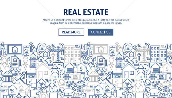 Real Estate Banner Design Stock photo © Anna_leni