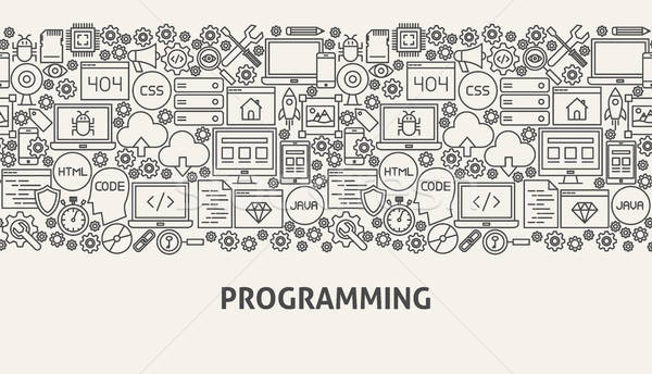 Programmazione banner line web design business design Foto d'archivio © Anna_leni
