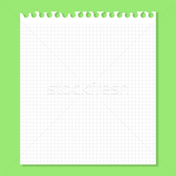 White piece of paper on a green Stock photo © Anna_leni