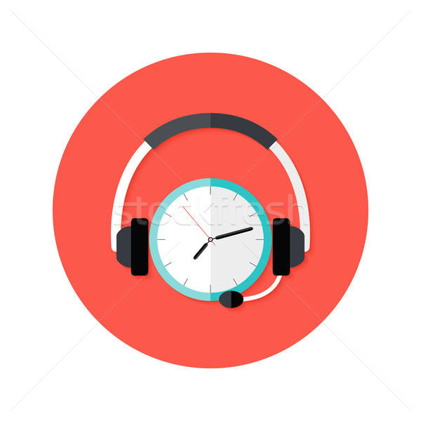 Request Callback Flat Circle Icon Stock photo © Anna_leni