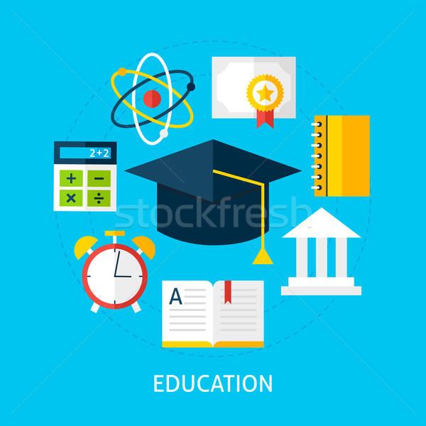 Education Flat Concept Stock photo © Anna_leni