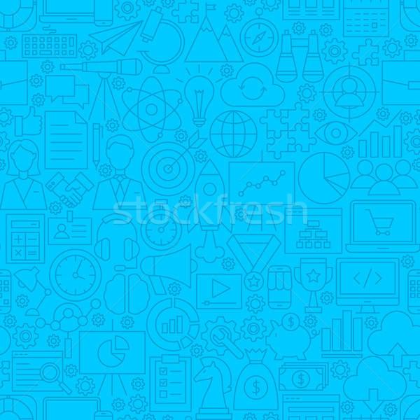 Inicio línea azulejo patrón negocios Foto stock © Anna_leni