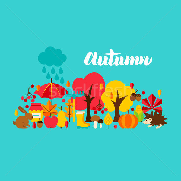 Autumn Greeting Postcard Stock photo © Anna_leni