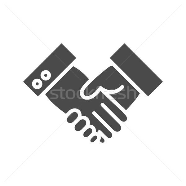 Handshake Solid Icon Stock photo © Anna_leni