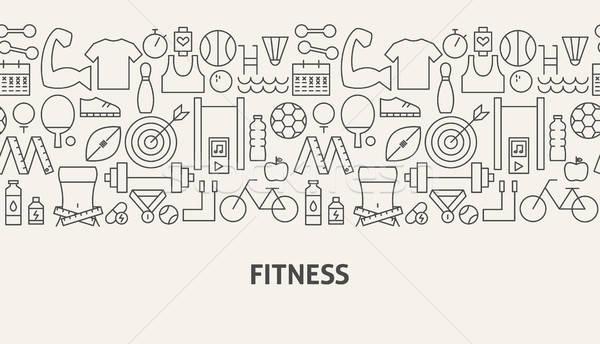 Fitnessz szalag vonal web design golf sport Stock fotó © Anna_leni