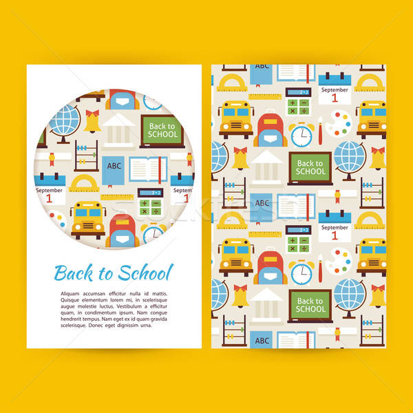 Vector Back to School Business Banners Set Template Stock photo © Anna_leni