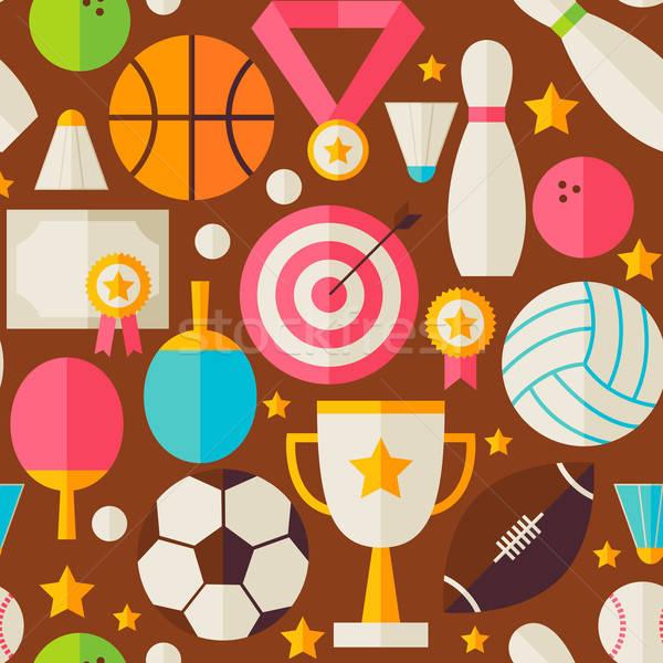 спорт отдых конкуренция вектора дизайна коричневый Сток-фото © Anna_leni