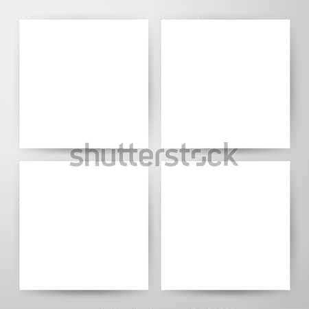 Square Blank Flyers Mockup Stock photo © Anna_leni