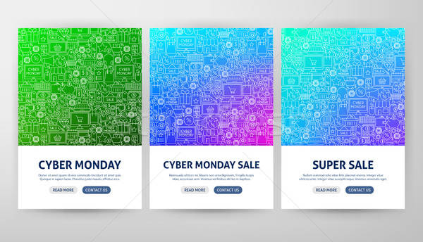 Cyber Monday Flyer Concepts Stock photo © Anna_leni