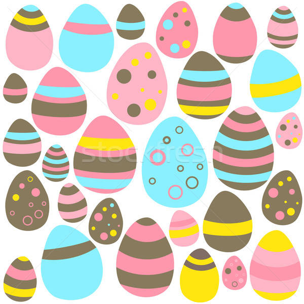 Yellow blue and pink Eastern eggs seamless texture Stock photo © Anna_leni