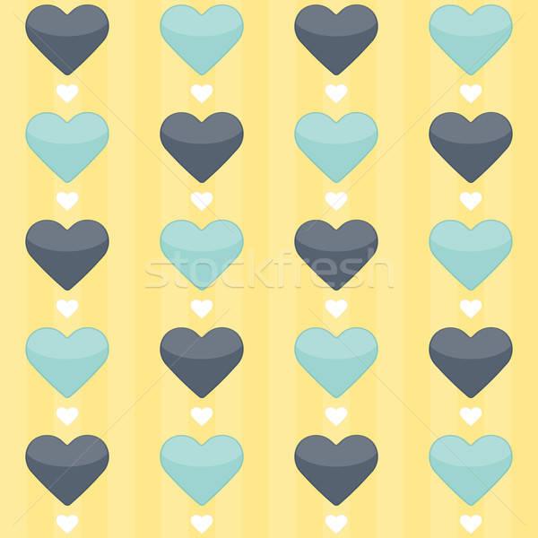 Azul de corações amarelo festa Foto stock © Anna_leni