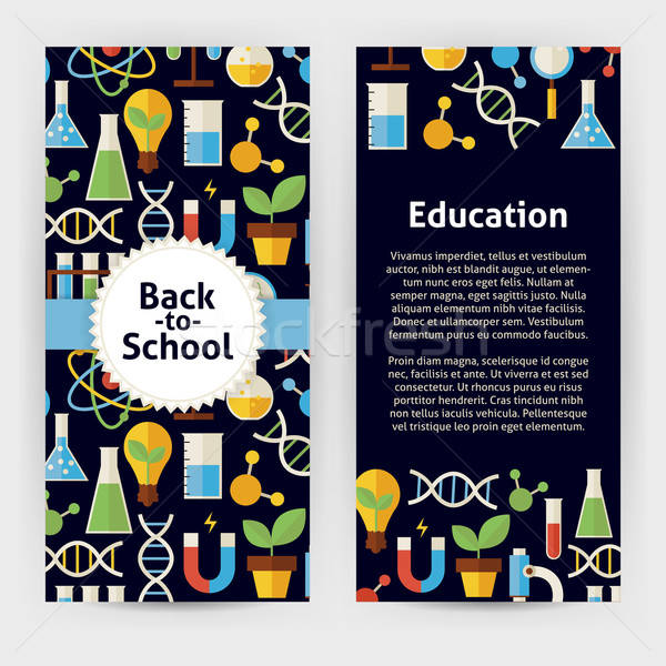 Vector Flyer Template of Flat design Back to School Science and  Stock photo © Anna_leni