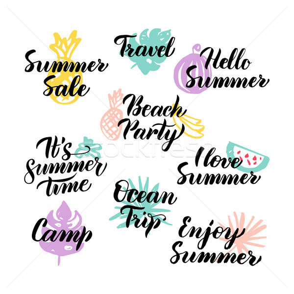 Summer Time Hand Drawn Quotes Stock photo © Anna_leni