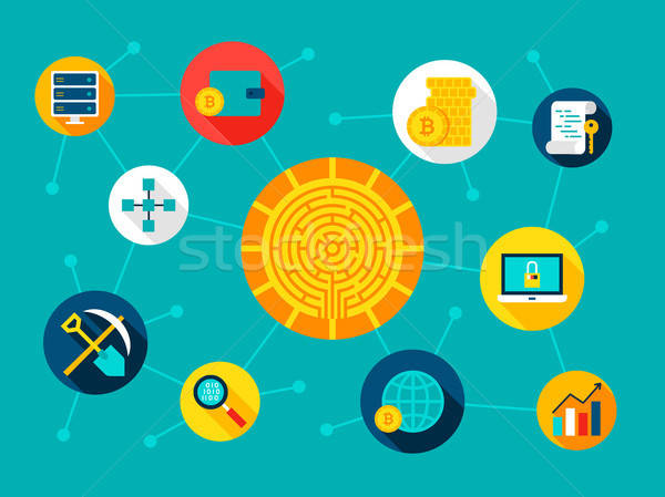 Stock photo: Cryptocurrency Digital Concept