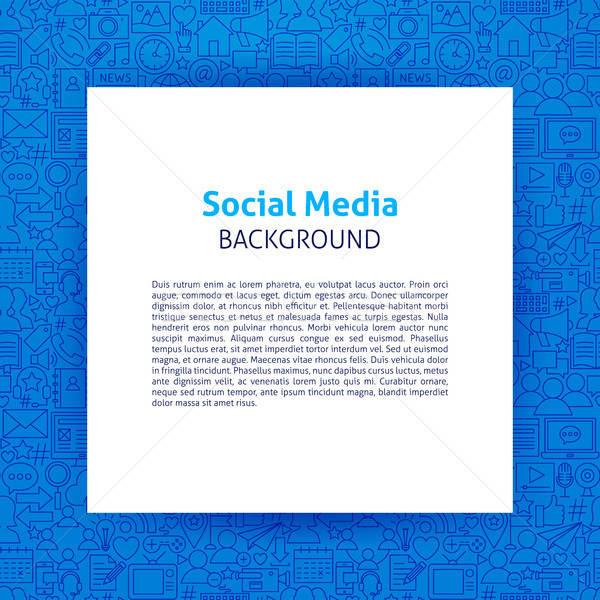 Social Media Paper Template Stock photo © Anna_leni