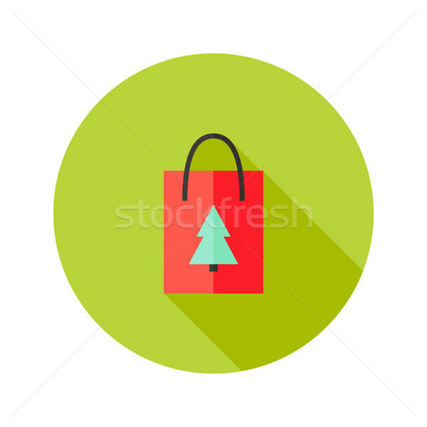 Pack with Christmas Tree Flat Icon Stock photo © Anna_leni