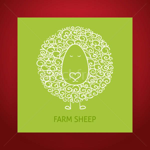 Naturalnych eco owiec gospodarstwa Zdjęcia stock © Anna_leni