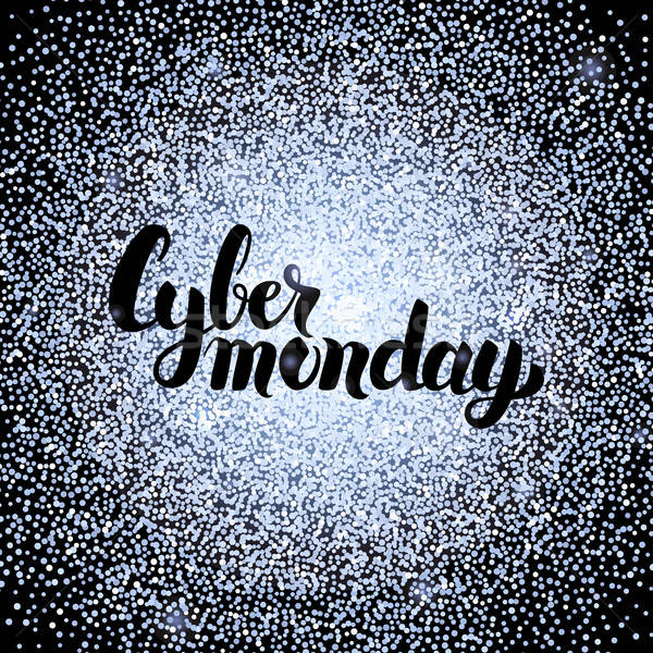 Cyber Monday Silver Poster Stock photo © Anna_leni
