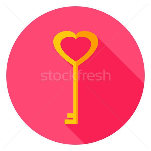 Love Key Circle Icon Stock photo © Anna_leni