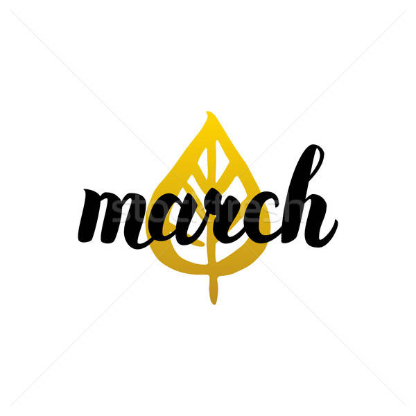March Handwritten Lettering Stock photo © Anna_leni