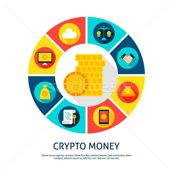 Crypto Money Concept Stock photo © Anna_leni