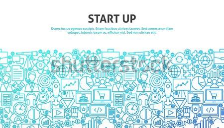 ストックフォト: 開始 · アップ · 行 · Webデザイン · バナー · テンプレート