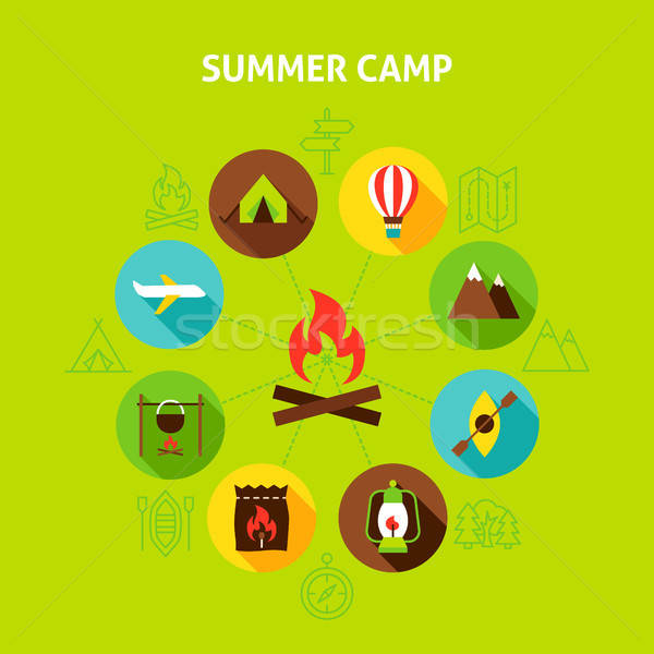 Concept Summer Camp Stock photo © Anna_leni