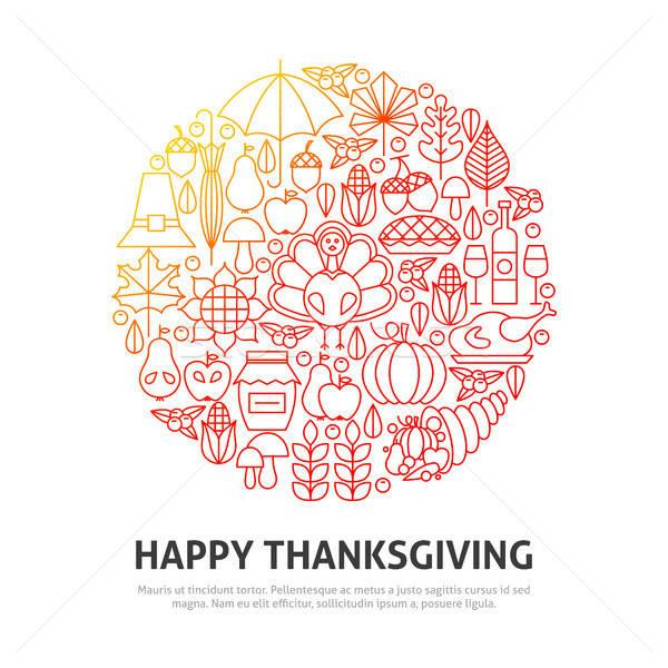 Happy Thanksgiving Circle Concept Stock photo © Anna_leni