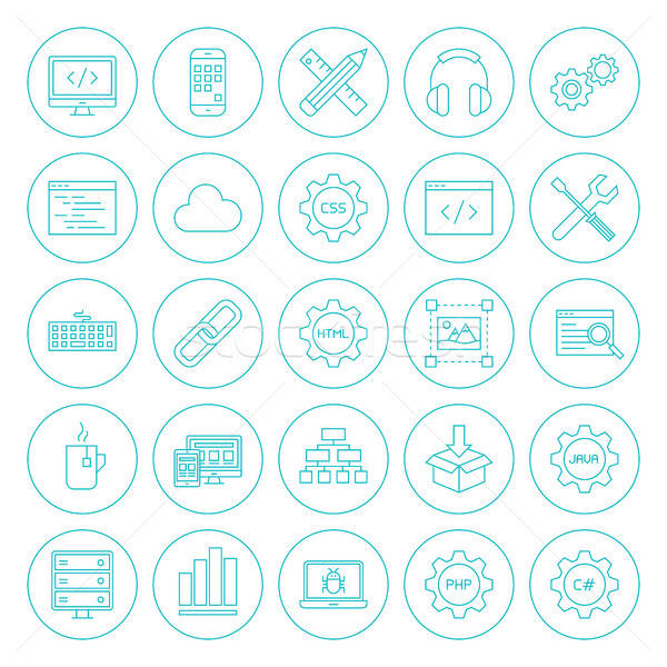 Line Circle Programming Icons Stock photo © Anna_leni