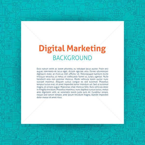 Digital comercialización papel plantilla diseno Foto stock © Anna_leni